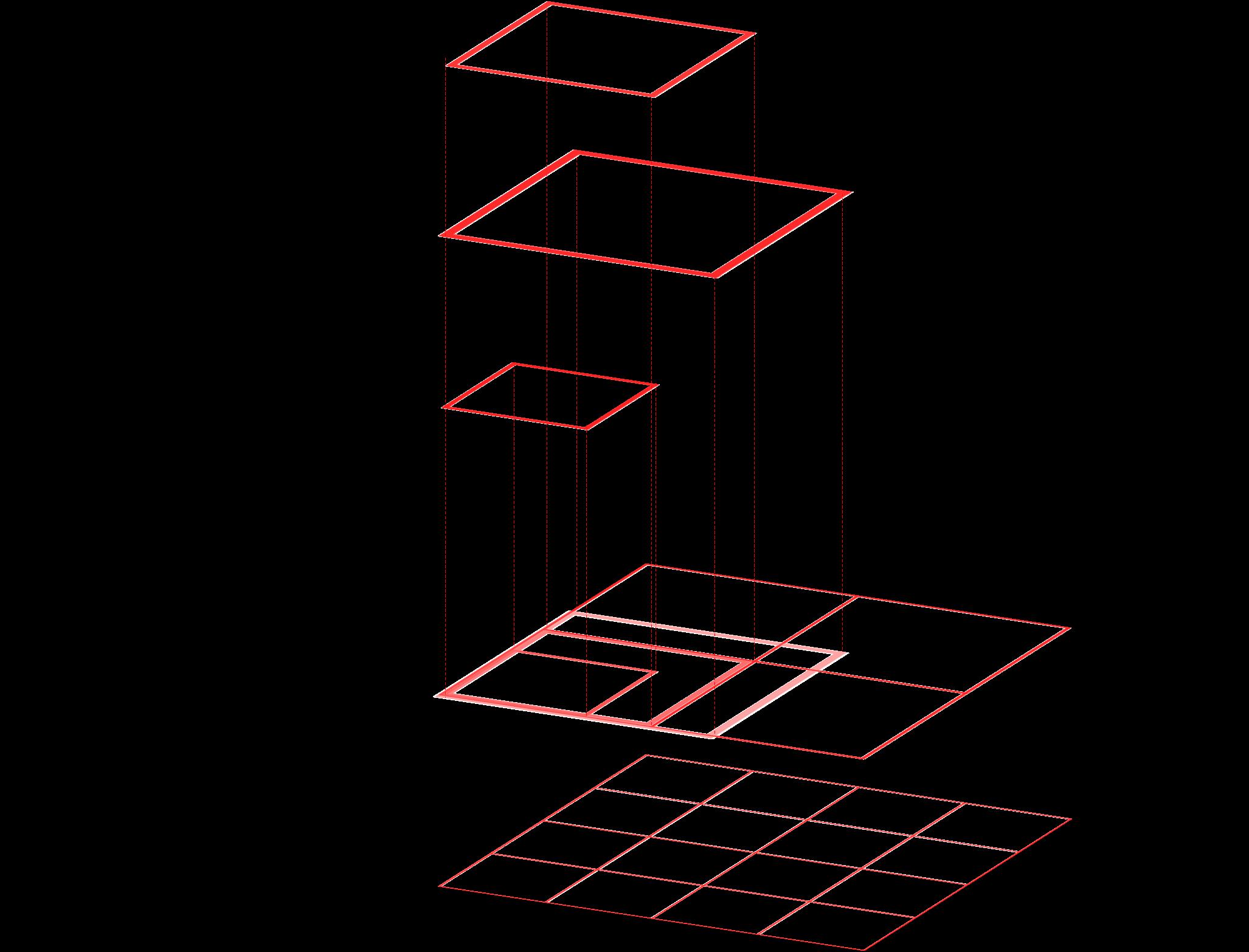 三種のピクセルの関係